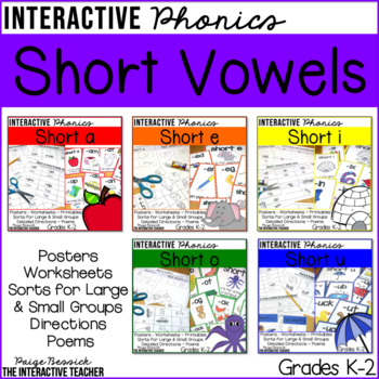 Short Vowel Activities Bundle: Posters, Sorts and Worksheets