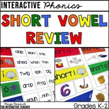 Short Vowel Review: Sorts, Worksheets & Activities