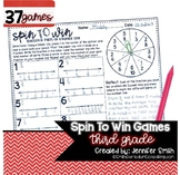 Third Grade Spin to Win Games - 37 Spinner Centers for Mat