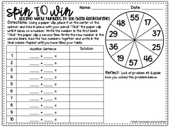 Third Grade Spin to Win Games - 37 Spinner Centers for Math Workshop