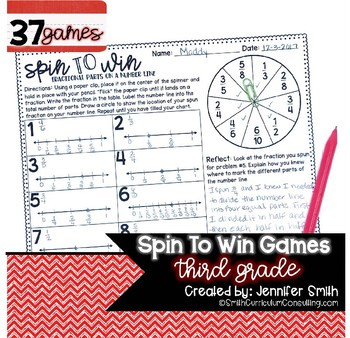 Third Grade Spin to Win | Centers for Math Workshop or Practice