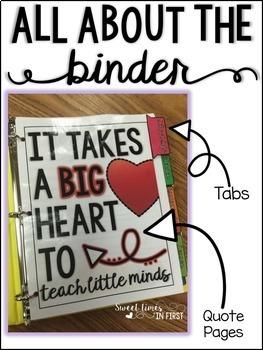Student Teacher Binder EDITABLE