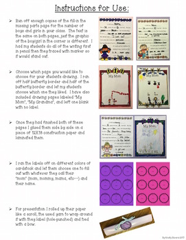 Mother's Day Writing & Drawing Activity