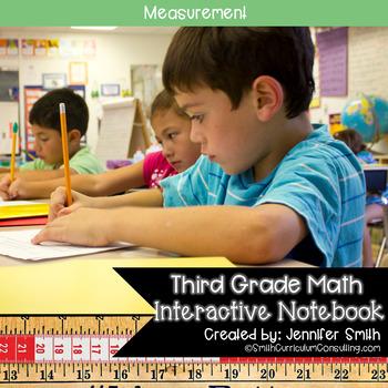 Third Grade Math Measurement Interactive Notebook