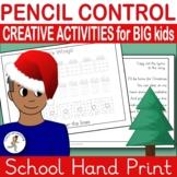{HANDWRITING worksheets} {handwriting for older kids} {WINTER HANDWRITING}