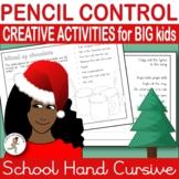 {CURSIVE HANDWRITING Practice} {CHRISTMAS handwriting practice} {penmanship}