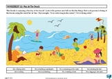 'HE' and 'SHE' Pronouns - 'Fun At The Beach' picture stimulus