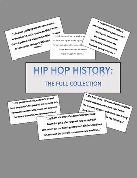 """HIP HOP"" HISTORY!  THE FULL COLLECTION OF US HISTORY RAPS!"