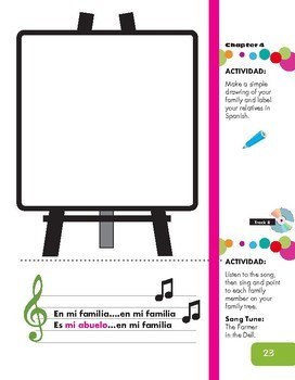My Family Activity and Song (Spanish resource)