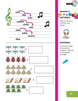 Numbers Activity and Song (Spanish resource)