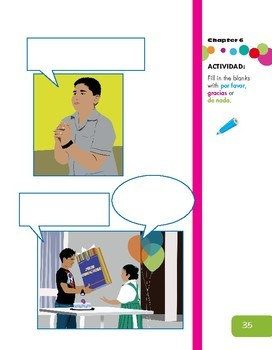 Please and Thank you Activity - being polite (Spanish resource)