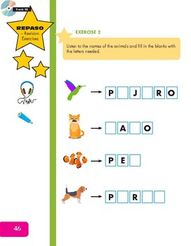 Classroom Objects, Classroom Instructions, Being Polite and Animals (Spanish)