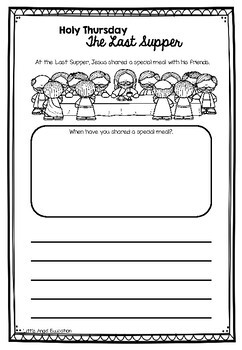 ** HOLY THURSDAY - THE LAST SUPPER ** CHRISTIAN ACTIVITY PACK