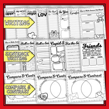 ***HUGE BUNDLE!*** Valentine's Day in 2nd Grade Review (((95+ PAGES)))