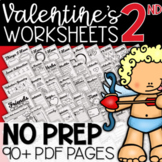 2nd Grade Valentine's Day Worksheets: 95 Page Review Bundle
