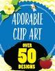 306 ITEMS - Clip Art, Digital Paper, Frames, and Borders C