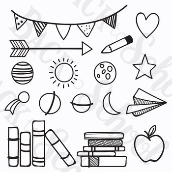 *HUGE* Collection of Hand Drawn Borders, Headers, & Element Clipart