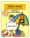 ¡Hace calor! Color by number in Spanish for summer. (4 pages)