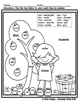 hace fresco color by number for fall in spanish 6 pages by hola