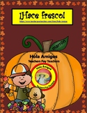 ¡Hace fresco! Color by number for fall in Spanish (7 pages)