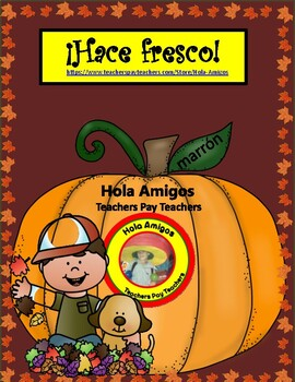 ¡Hace fresco! Color by number for fall in Spanish (6 pages)