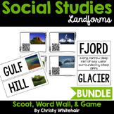 Landmarks: QR Scavenger Hunt, Word Wall, & Game