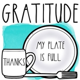 Gratitude Activities Journal and Placemats