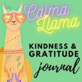 Gratitude Kindness & Daily Check in Journal by the Calma Llama