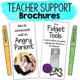 Teacher Brochures Parent Anger and Managing Fidget Tools