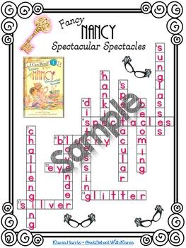 Fancy Nancy Spectacular Spectacles Crossword Puzzle Activity