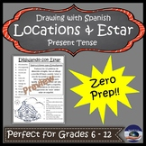Estar and Locations Spanish Drawing Activity