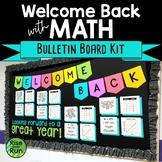 Math Bulletin Board Kit for Back to School