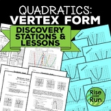 Quadratic Functions Vertex Form Discovery Lesson Pack