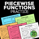 Piecewise Functions Practice Activity