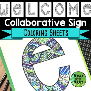 photo relating to Printable Welcome Sign identified as Welcome Indicator Printable Coloring Sheets by way of Increase above Work TpT
