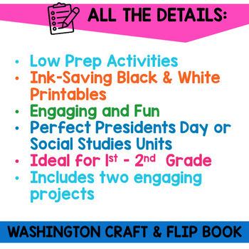 George Washington Flip Book and Craft