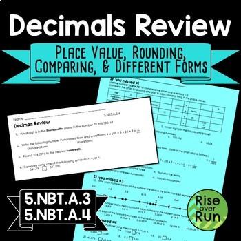 Place Value and Decimals 5th Grade 5.NBT.A.3, 5.NBT.A.4