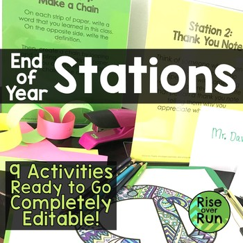 End of Year No Prep Activity Stations
