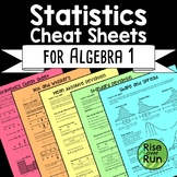 Statistics Cheat Sheets Notes with MAD, Standard Deviation, Shape & Spread