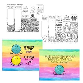 Anger Management Mini Flipbook for grades 4-8
