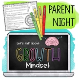 Growth Mindset Parent Night Kit