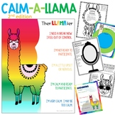 Calming Llama Worry Workbook with Google Classroom Version