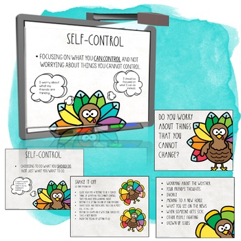 Self Control Activities with the Circle of Control Turkey