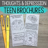 Depression and Negative Thoughts Brochures for High School