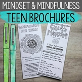 Growth Mindset & Mindfulness Brochures for Middle and High School