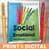 Social Emotional Workbook plus Distance Learning for Teens