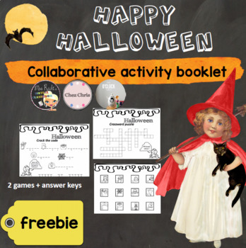 { Halloween Activity Booklet - Freebie } crosswords puzzle + crack the code