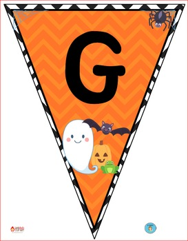 """Halloween"" Class Pennant Banner with Worksheet"