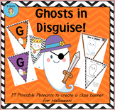 """""""Halloween"""" Class Pennant Banner with Worksheet"""