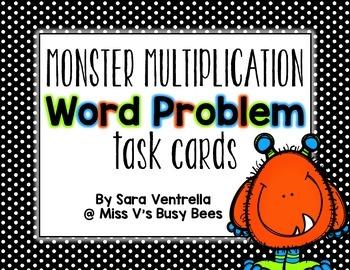 {Halloween} Multiplication Word Problem Task Cards